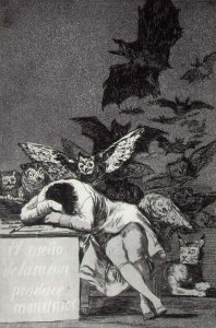 The Sleep of Reason Produces Monster (Goya)